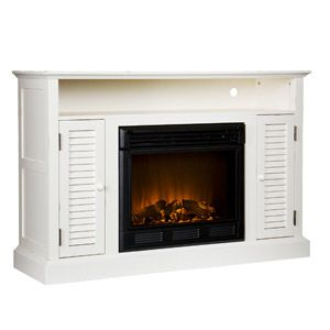 Wiltshire Fireplace Media Console Antique White Box 1 Of 2
