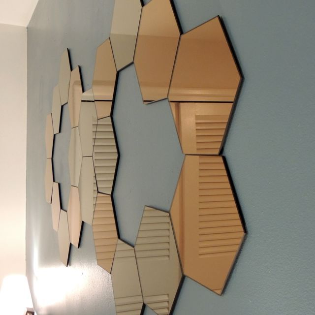 Ideas For Ikea Lots Mirrors ~ Honefoss Mirrors IKEA  stencil and other decor  Pinterest