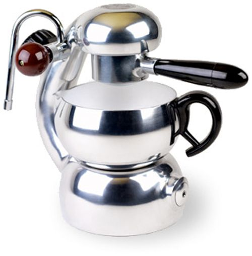 Atomic Espresso Stove-top Machine.  Wonderful... and would be better still in stainless steel.