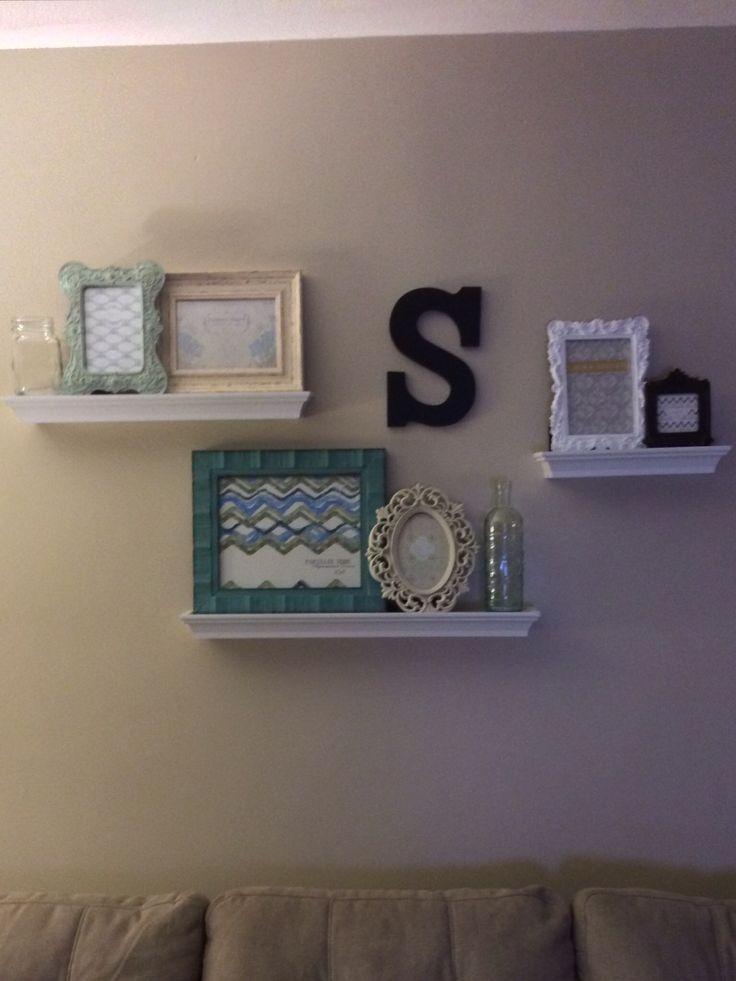 Floating Shelves In Living Room Cool Design Inspiration