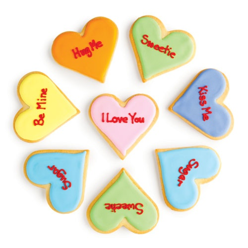 Conversation Heart Cookies | all things sweet | Pinterest