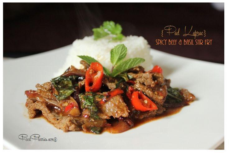 Thai Spicy Beef & Basil Stir-fry | Asian food | Pinterest