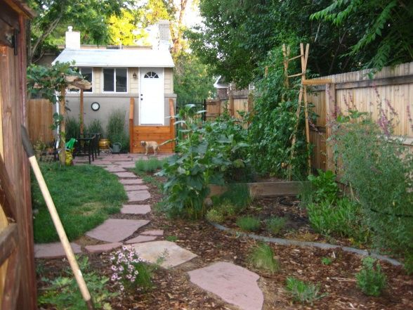 Urban Farm Backyard Ideas : Small Urban Backyard Metamorphosis, Our small halfduplex backyard in