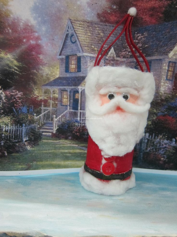 ... Claus by Toilet paper roll   Recycled Christmas Ornaments   Pin
