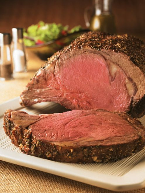 Prime rib dinner article talks about dry rub aging the meat