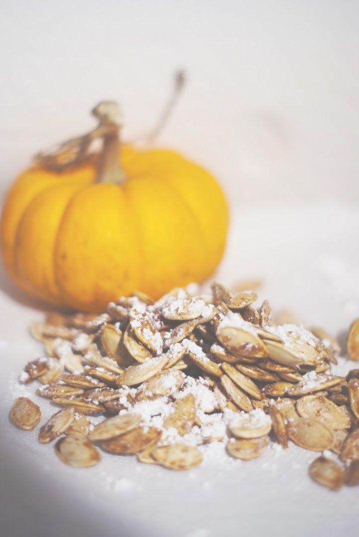sweet toasted pumpkin seeds | scrumptious | Pinterest