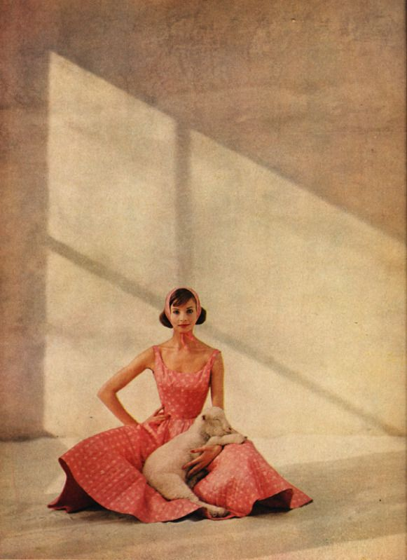 Spring fashion for Harper's Bazaar ~ 1959.Photo by Francesco Scavullo.