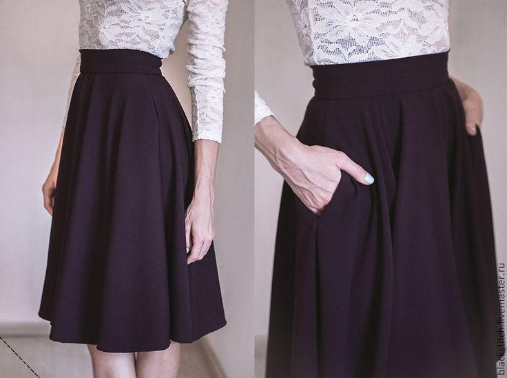 Как сшит юбку до колен 310