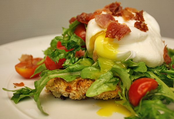 RECIPE: Baked chicken milanese with arugula, cherry tomatoes, poached ...