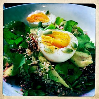 Sprouted Quinoa Breakfast Salad | Food and drink ideas | Pinterest