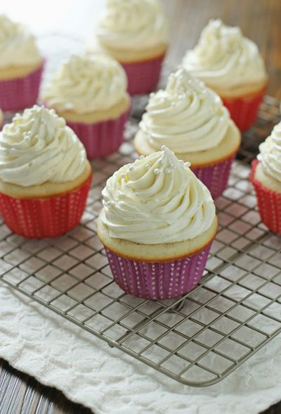 Vanilla Bean Cupcakes:.Cupcake base adapted from Baking: From My Home ...