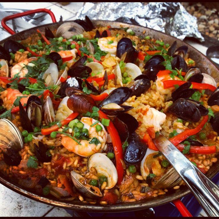 Spanish seafood paella! | Seafood | Pinterest