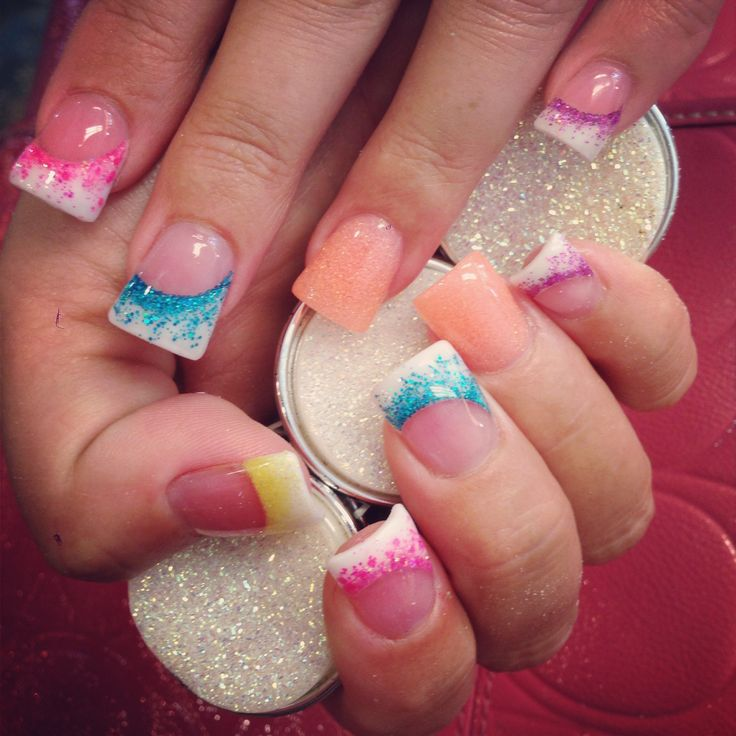 Rainbow Ombre Nails Ombre Nails Tutorial