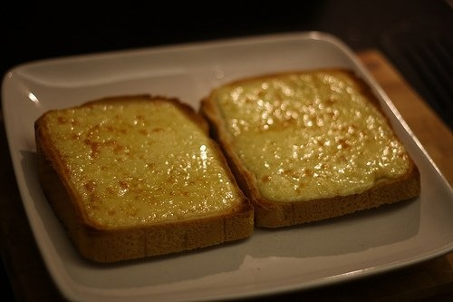 Cheese on toast, with a splash of Worcestershire sauce.