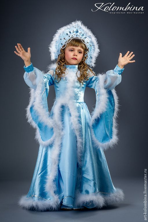 Как сделать костюм снегурочки своими руками для девочки 135