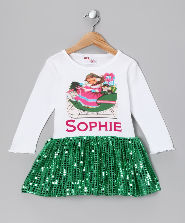 Gus amp lola brown haired girl personalized dress toddler amp girls