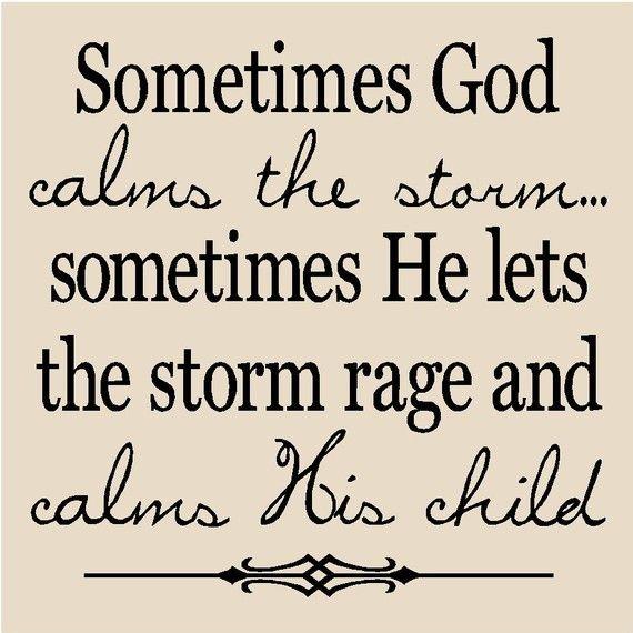 Calm the storm...