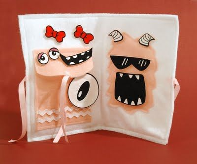 SEI my monster avail.  at Target. Cute cloth book mixing the monster pieces.
