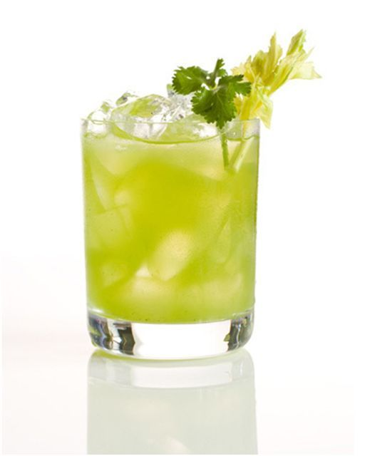 Celery & cilantro cocktail