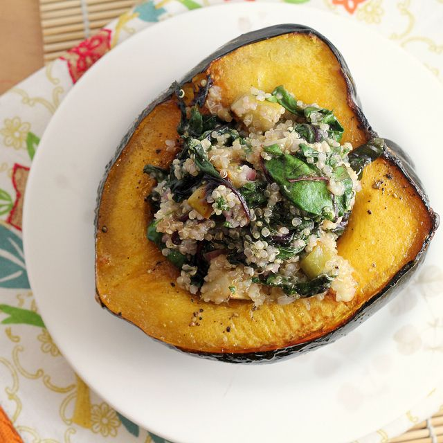 Acorn Squash Boats with Quinoa {12 Weeks of Winter Squash
