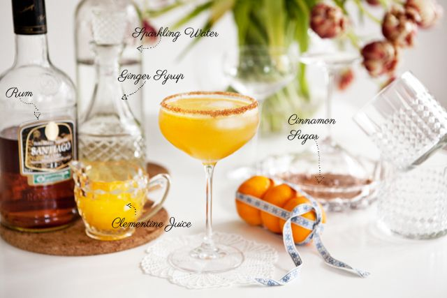 clementine juice 4 cl ginger syrup recipe below dash of sparkling ...