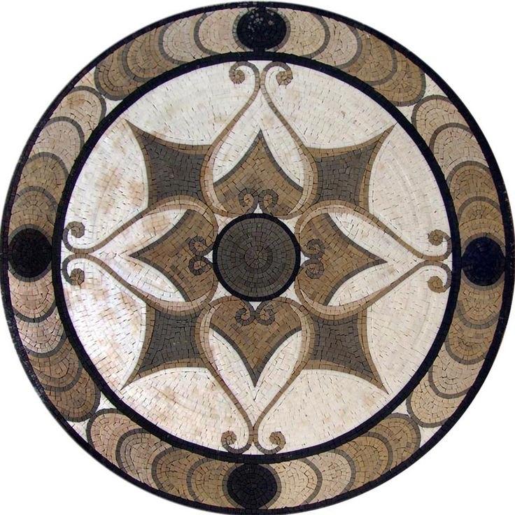 MD087 Marble Mosaic Medallion Tile Mosaic Pinterest