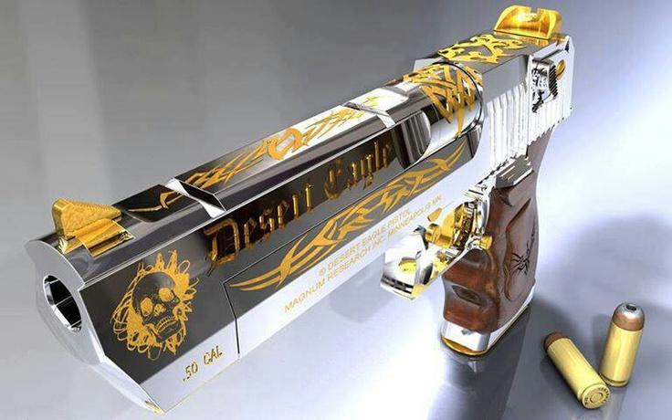 Gold Accented Desert EagleGolden Desert Eagle