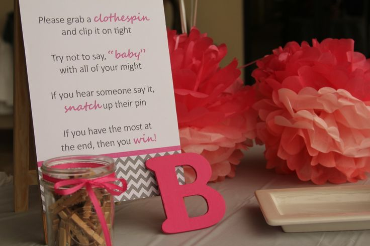 baby shower entry table clothespin game baby shower pinterest