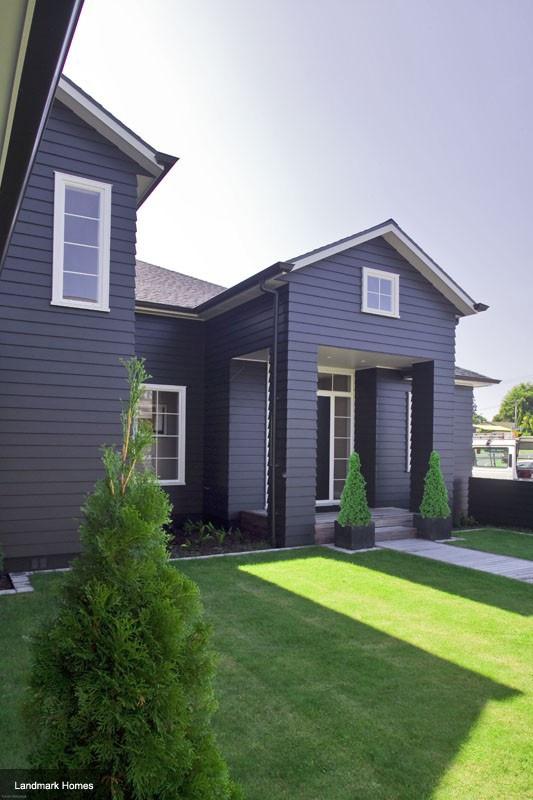 Dark Blue Weatherboard Home Colour Schemes Pinterest