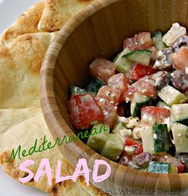 ... with kalamata olives and feta, then dressed with a hummus vinaigrette