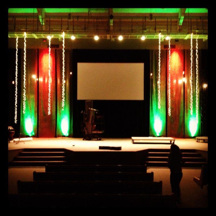 bubble wrap church stage idea stage set design pinterest