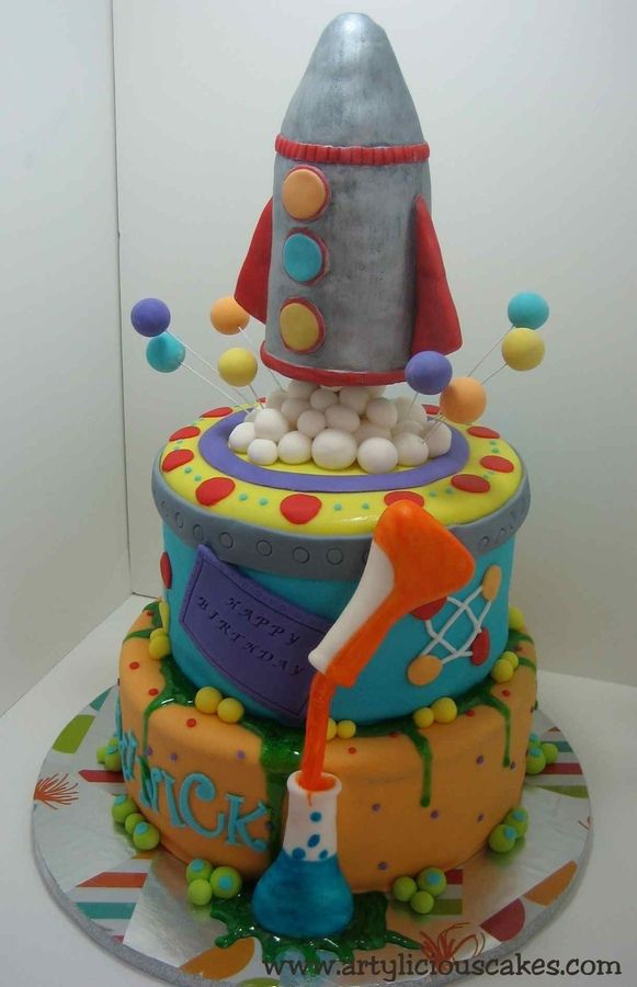 Mad Science Cake — Children's Birthday Cakes