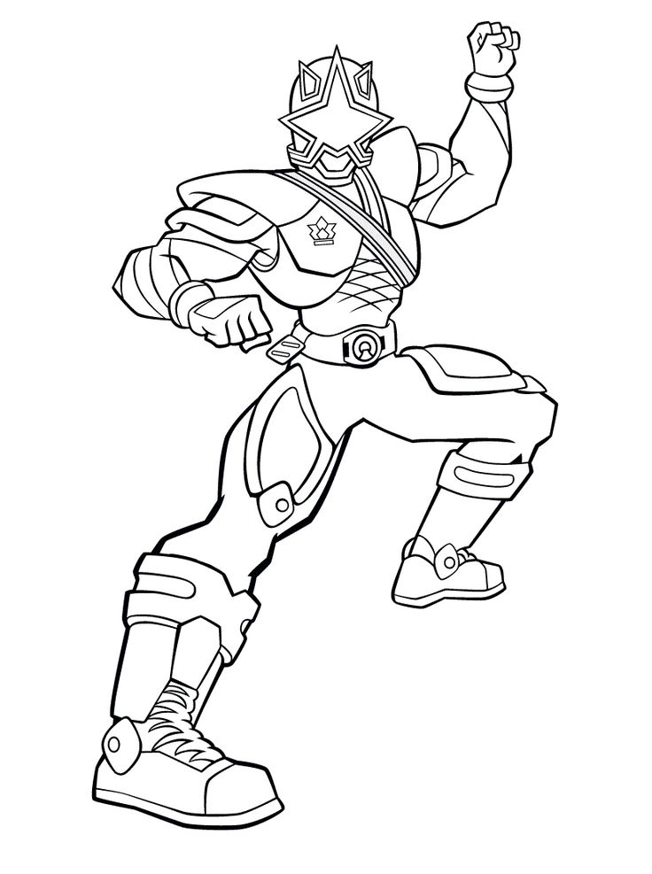 Red power ranger samurai coloring pages coloring pages for Samurai rangers coloring pages