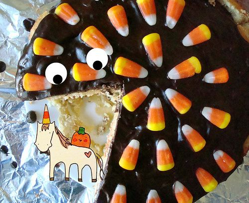 Candy Corn Boston Cream Pie | Halloween | Pinterest