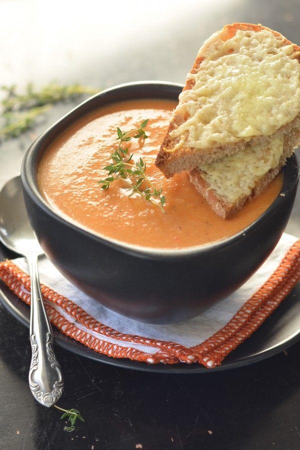 Roasted Red Pepper and Cauliflower Soup via @Erica Cerulo Cerulo ...
