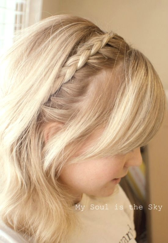 Braided Headband Hairdo   hair  makeup  nails   Pinterest