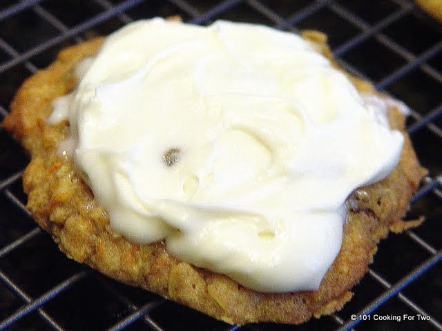 Carrot Cake Cookies with Cream Cheese Frosting | Recipe