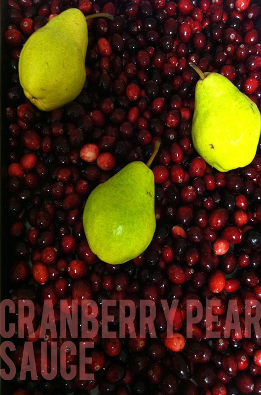 "Cranberry Pear Sauce | RECIPE BOX {""me"" allergy friendly} 