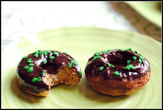 whole wheat banana ganache donuts | Recipes | Pinterest