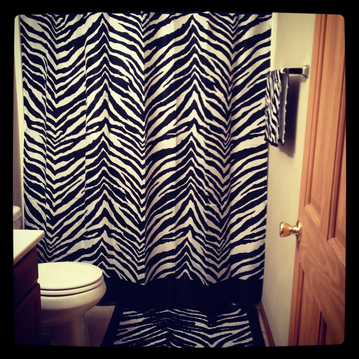 Zebra bathroom ideas crowdbuild for for Zebra decorations for home