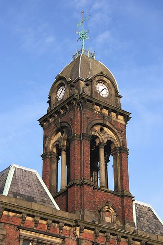 The clock-tower on the old workhouse/hostel, Fulwood, Preston.