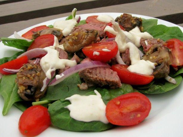 Steak Salad W/Creamy Horseradish Dressing | Recipe