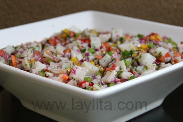 Ceviche de pescado or fish ceviche recipe