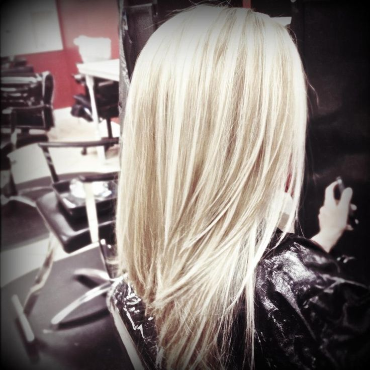 Photos of lowlights on white hair for 2 blond salon reviews