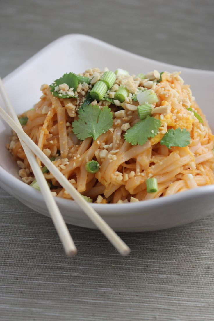 Vegetable Pad Thai Recipe | Thai Recipes | Pinterest