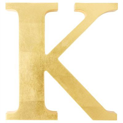 K Letter In Gold Gold Letter – K, i neeeeed this.