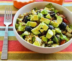 ... Taco Salad [from Kalyn's Kitchen] #Vegetarian #CanBeVegan #