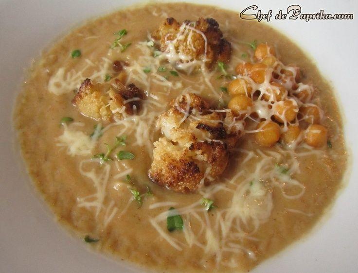 Roasted Cauliflower Soup Recipe | food | Pinterest