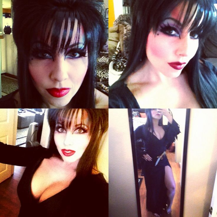 Elvira makeup and costume for Halloween Elvira Costume Ideas