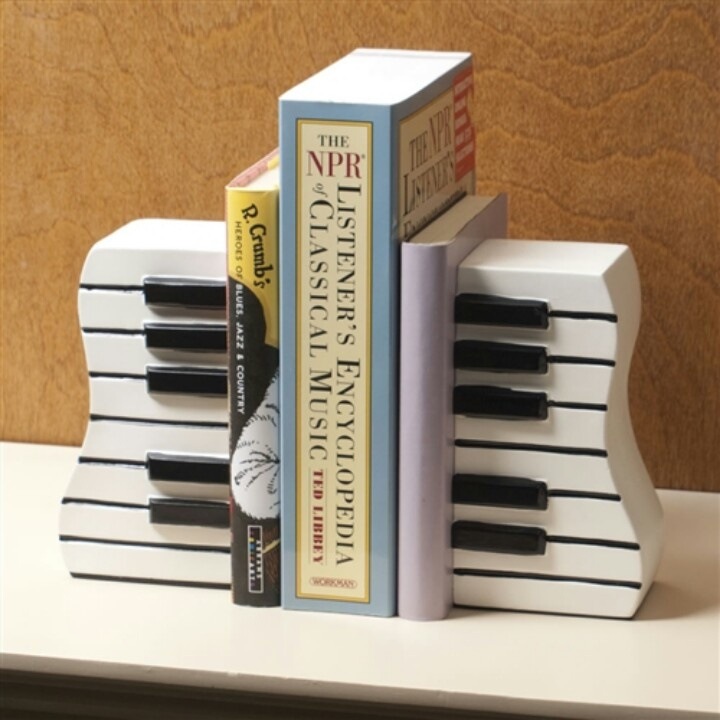Book ends music stuff pinterest - Piano bookends ...
